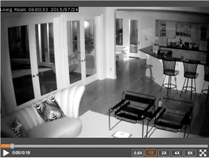 Indoor Alarm.com Night Vision Camera Picture